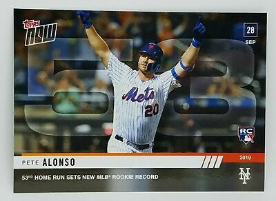 2019 Topps Now #913 Pete Alonso Rc New York Mets 53Rd Hr Sets Mlb Rookie Record