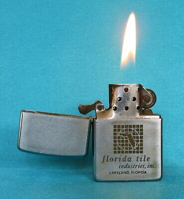 Very Collectable Vintage 1966 Chrome Advertising Zippo Lighter.