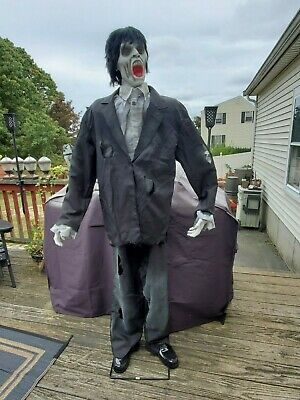 Gemmy Life- Size Animated  Halloween zombie 6 feet tall
