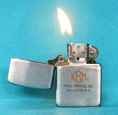 Very Collectable Vintage 1959 Chrome Advertising Zippo Lighter.