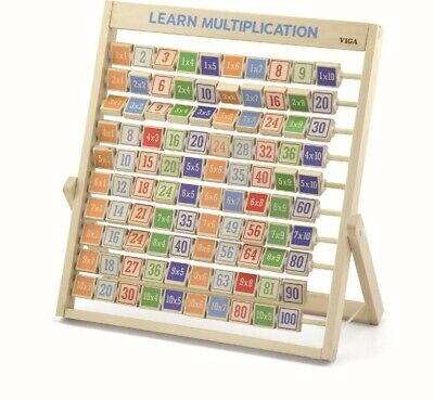 Viga Wooden Learning MULTIPLICATION Frame Times Table Math Wooden Toy