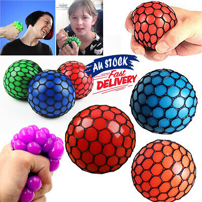 Squishy Mesh Ball Squeeze Toy S4 Grape Abreaction Anti Stress Relief Sensory