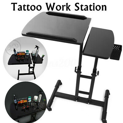 Réglable Rolling Tatouage station Travail Support Tattoo Table portatif Stand FR