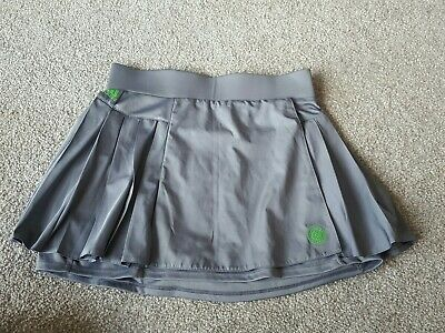 ADUDAS GIRLS GREY Tennis 2in1 twnnis skirt with shorts size 11-12 years
