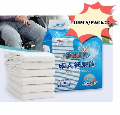 10PCS/Pack Adult Large Disposable HEAVY ABSORBENCY Ultra Diapers Diaper Bri A8A5