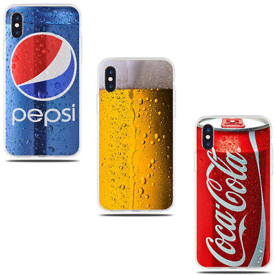 Popular Soft Drinks Beer Coca Cola Pepsi cover cases skins iPhone X XS