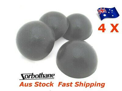"""4pc Sorbothane Hemispheres 50mm 2"""" inch Domes Isolation Bumpers Mount 70 Duro"""