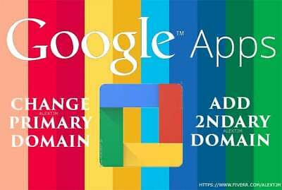 Add Multiple Secondary Domain in Google Apps G Suite Add Secondary Domain