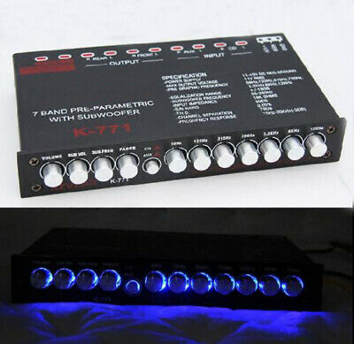7-band pre-parametric with subwoofer Car Audio EQ tuning crossover car equalizer