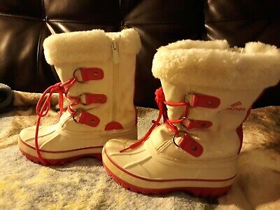 DREAM PAIRS Girls  Kids Faux Fur-Lined Ankle Winter Snow Boots 12y