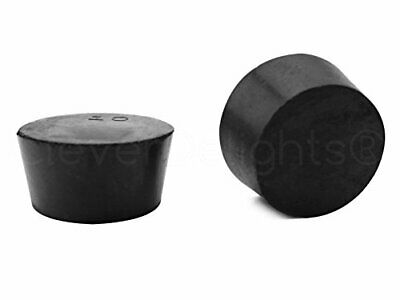 3 Pack - CleverDelights Solid Rubber Stoppers - Size 10 - 53mm x 44mm - 32mm