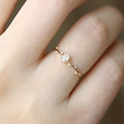 Simple Dainty Cute Rings Female Wedding Engagement Finger Ring Fashion Gifts