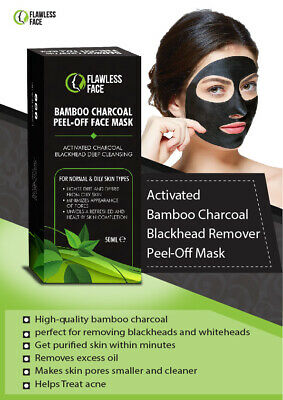 Activated Charcoal Black Face Mask Peel Off Acne Black Mask Blackhead Remover UK