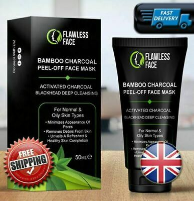 Black Face Mask Activated Charcoal Peel Off Acne Black Mask Blackhead Remover UK