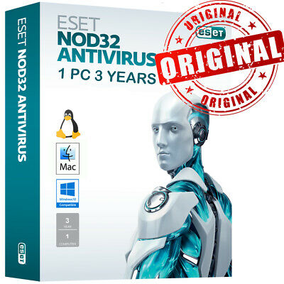 2019 ESET NOD32 Antivirus 2 PC , 2 Anno, GLOBAL- Consegna immediata