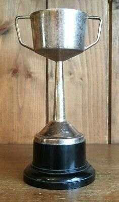 NOT ENGRAVED silver plate vintage trophy, loving cup, trophies, trophy
