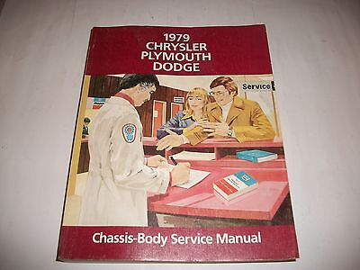 1979 Dodge Chrysler Plymouth Chassis/Body/ Drivetrain Service Shop Manual  Clean