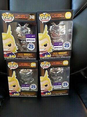 Funko Pop My Hero Academia Silver Chrome All Might Funimation Nycc Exclusive