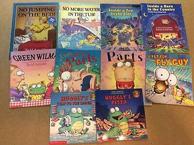 Tedd Arnold Lot of 10 Children's Picture Books Parts Fly Guy Huggly No Jumping