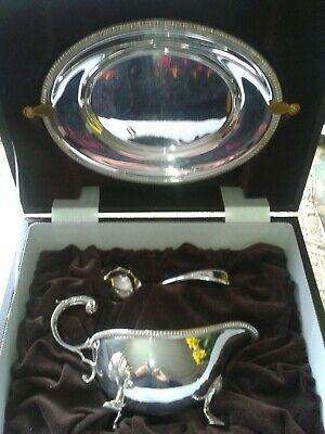Mappin & Webb Sauce Boat Boxed Unused Silver Plate