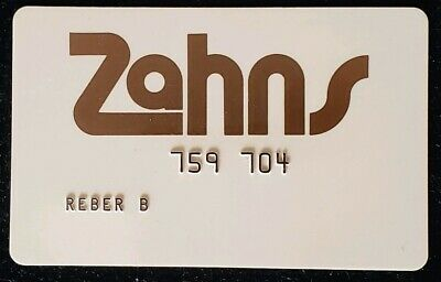 Zahns Charge Card ♡Free Shipping♡ cc54