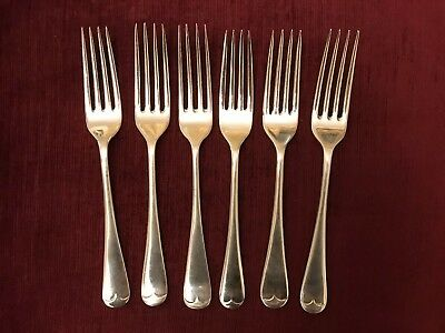 *Six Silver Plated Epns Salad, Side Forks Sheffield Old English Different Makers