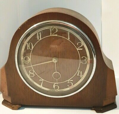 Antique SMITHS 8 day clocks for restoration or props.  Very decorative clock