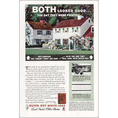 1934 Dutch Boy White-Lead Paint: Both Looked Good Vintage Print Ad