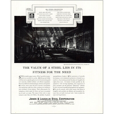 1933 Jones & Laughlin: Fitness for the End Vintage Print Ad