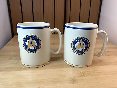 Vintage 1993 Pfaltzgraff STAR TREK USS Enterprise NCC 1701 A Coffee Cup 12oz Mug