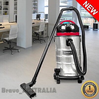 Wet Dry Vacuum Cleaner 30L Bagless Industrial 1400W Dust Extractor Blower Vac