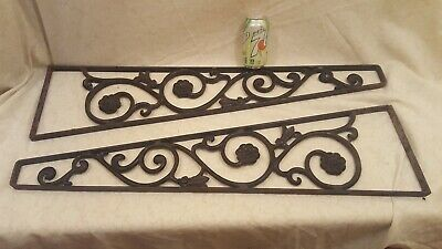 2 VINTAGE WROUGHT IRON BRACKETS SALVAGE for Signs, Garden or Decoration