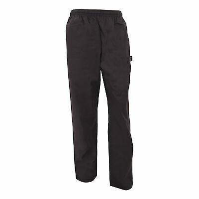 Dennys Unisex Black Elasticated Trouser / Chefswear (Pack of 2) (BC4305)