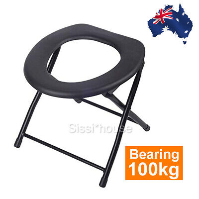 Portable Folding Toilet Travel Camping Chair Festival Park Fishing Outdoor AU
