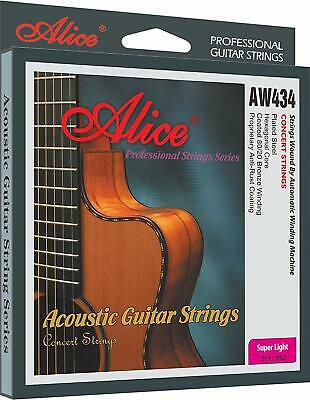 Alice AW434-SL Acoustic Guitar Strings Steel Coated 85/20 Bronze Wound String