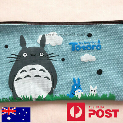 TOTORO pouch light blue cosmetic bag pencil case stationery studio ghibli gifts