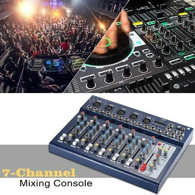 ammoon F7-USB 7-Channel Mixing Console 3 Bands Equalizer for DJ Karaoke Music