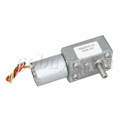 12V Worm Gear Motor Speed Reduce Electric Gearbox Brushless Motor 23RPM