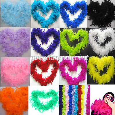 BRAND NEW Feather Boa Strip Fluffy Craft Costume Fancy Dress Wedding Party Deco.
