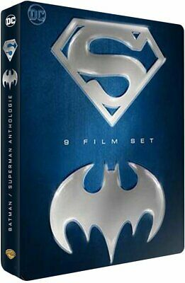 Batman / Superman Coffret Steelbook Blu Ray 9 Films Neuf Sous Cellophane