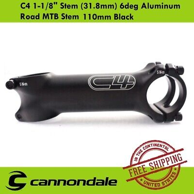 """110mm silver road bike stem  31.8 clamp cannondale 1-1//8/"""" steerer new old stock"""