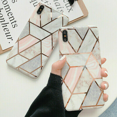 Case for iPhone 11 Pro Max XR XS 8 7 Plus ShockProof Marble Phone Cover Silicone