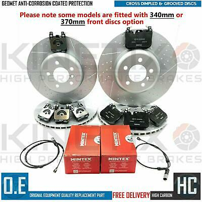 FOR BMW 430d M SPORT FRONT DIMPLED GROOVED BRAKE DISCS MINTEX PADS 370mm