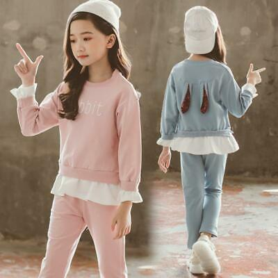 3-14Years Fashion Baby Girl Clothes Long Sleeve Cute Outfits Set Kids Clothing