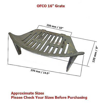 """Ofco 16"""" Round Front Fire Grate"""