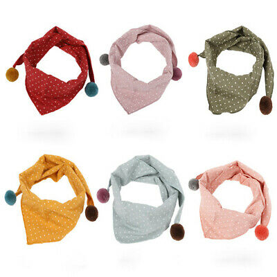 AU Children Accessories Boys Girls Dot Scarf Neck Scarves O ring Shawl Scarf