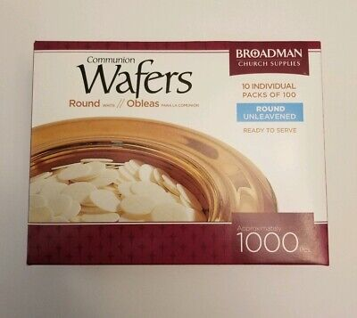 Communion Wafers Round Unleavened-Box Of 1000  Broadman Church Supplies