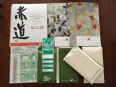 Vintage 1970's JAL Airlines Travel Mate Menu Crossed the Equator Collectables