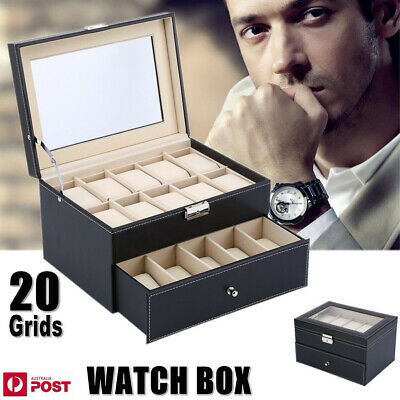 6/9/10/12/20/24 Watch Jewelry Storage Holder Box Watches Sunglasses Display Case