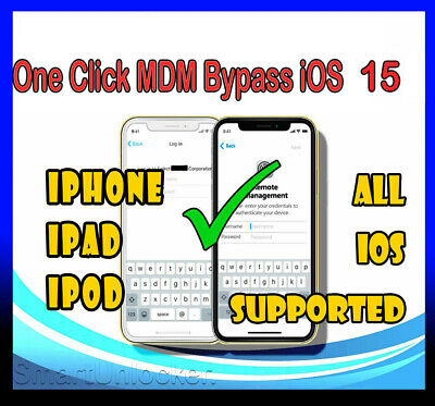 iPhone iPad One Click MDM Unlock Remove Bypass iOS 13.3 Mobile Device Management